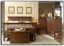 Tradewins Mission or Master Craft Prairie Mission Adult Bedroom Set